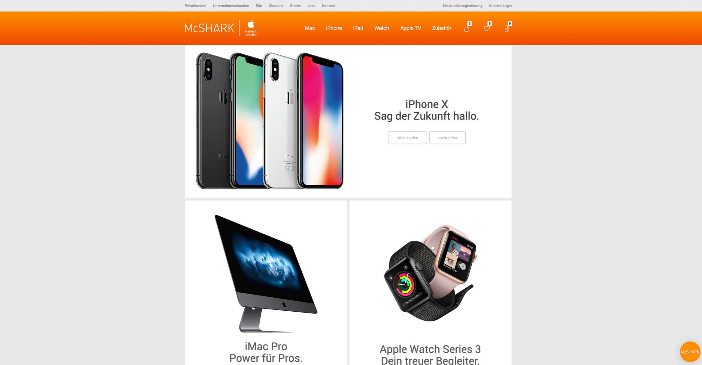 eboxx® onlineshop, apple, mcshark, startseite